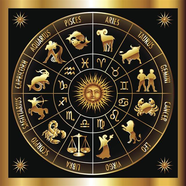 golden zodiac circle