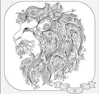 Zodiac leo symbol
