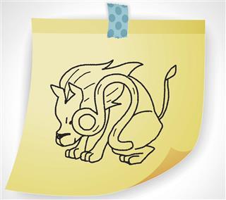Leo symbol on paper