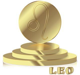 Gold zodiac sign leo