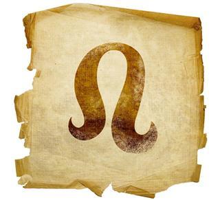 Zodiac sign leo on paper