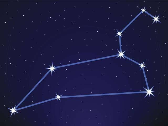 Leo constellation in night
