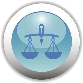 Zodiac Button Icon Libra