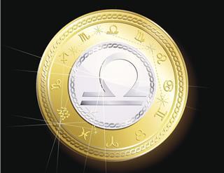 Coin zodiac libra
