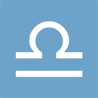 Libra White Icon