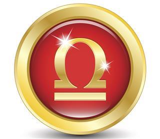 Golden zodiac sign libra