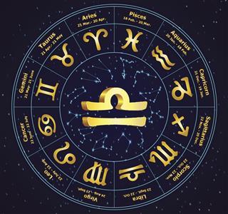 Zodiac libra sign in circle