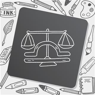 Astrology libra symbol