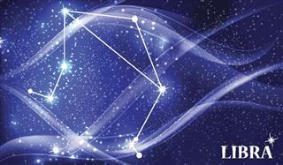 Libra constellation in sky