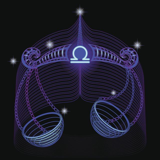 Set Neon Signs Of The Zodiac Libra