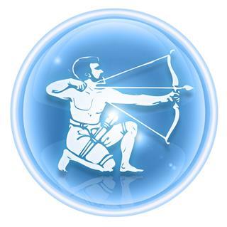 Sagittarius Zodiac Icon Ice