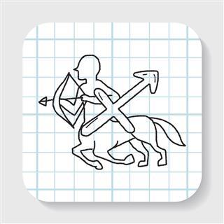 Sagittarius Constellation Doodle