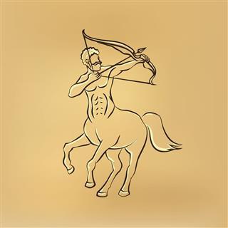 Sagittarius Zodiac Illustration