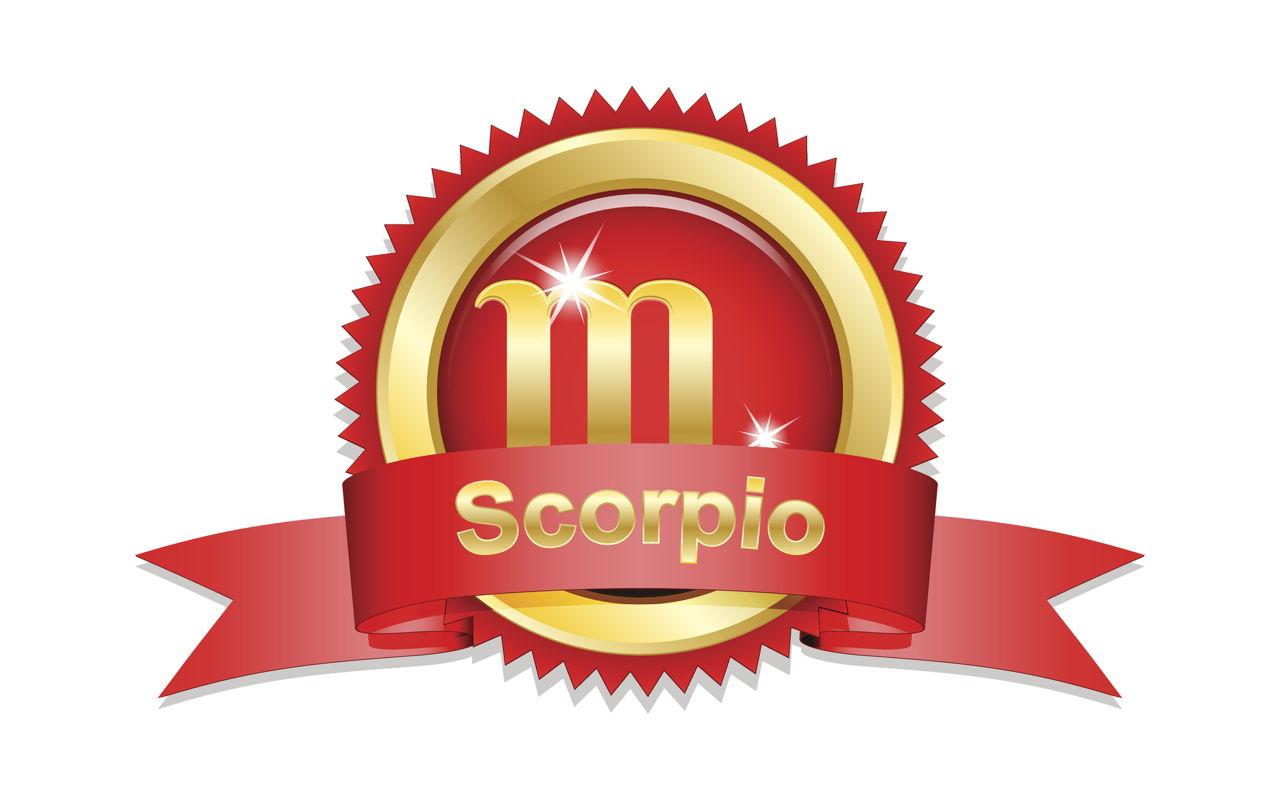 Scorpio Zodiac Sign With Red Ribbon