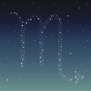 Scorpio Zodiac Symbol Created From Stars