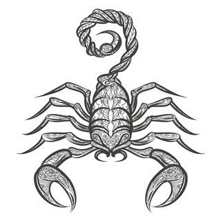 Scorpion Zentangle Icon