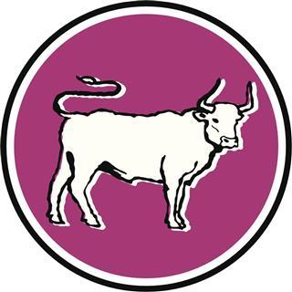 Taurus symbol in circle