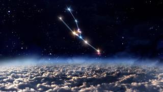 Taurus constellation in space