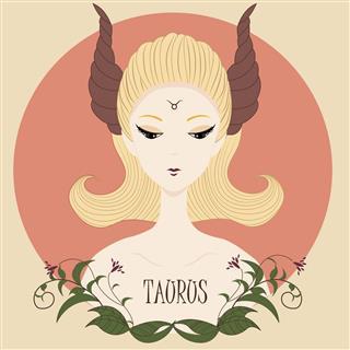 Zodiac girl Taurus