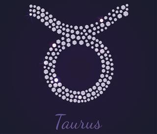 Diamond zodiac taurus symbol