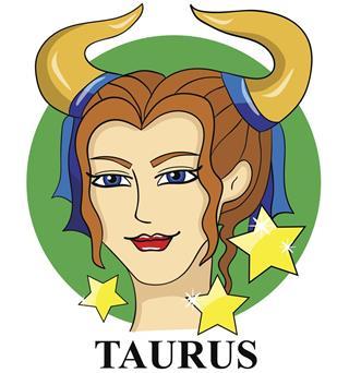 Astrological symbol taurus
