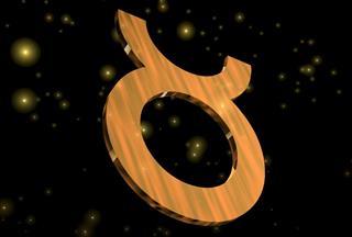 Taurus symbol in sky