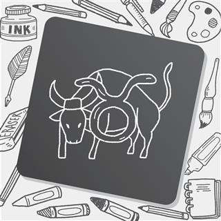 Taurus horoscope symbol
