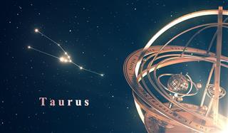 Zodiac Constellation Taurus And Sphere