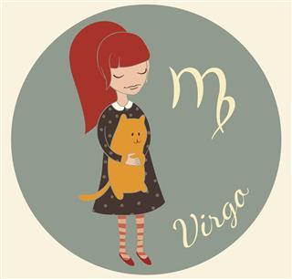 Cute zodiac sign virgo