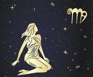Zodiac virgo sign in sky