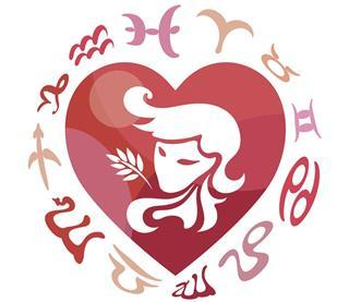 Virgo zodiac sign with horoscope circle