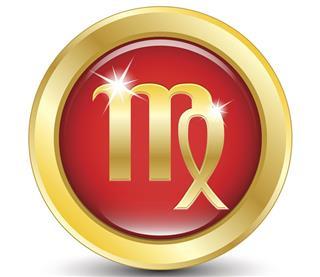 Golden zodiac sign virgo