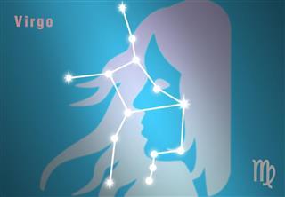 Zodiac virgo constellation