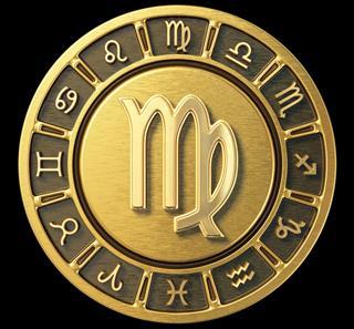 Gold Zodiac Wheel Virgo