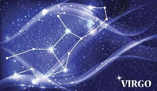 Virgo constellation in space
