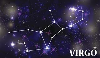 Virgo constellation in sky