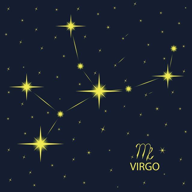 Zodiacal constellation virgo