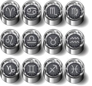 Modern zodiac symbols