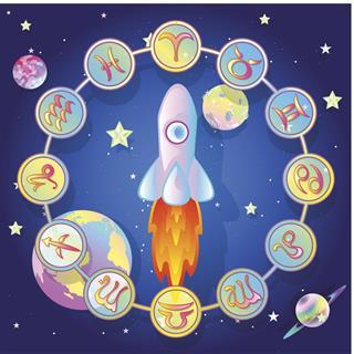 Zodiac Circle in space