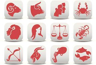 red zodiac symbols