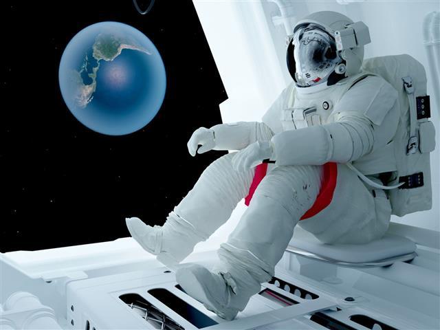 Astronaut sitting