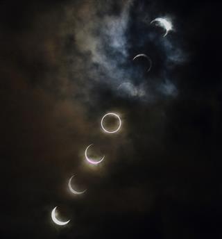 Annular solar eclipse at Tokyo
