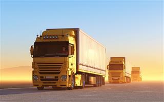 Yellow Trucks On The Road