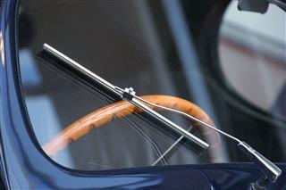 Vintage Car Wiper And Steering Wheel