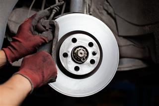 Changing Brake Pads Of Car