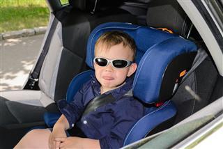 Baby Boy On Car Seat