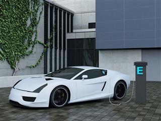 Recharging Electric Sport Car