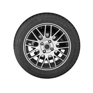 Modern Automotive Wheel On Steel Disc