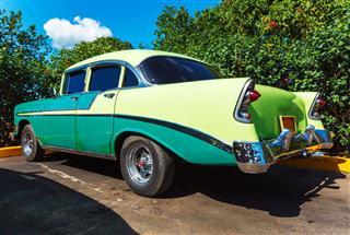 Vintage Car Parking Havana Cuba