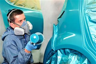Painting Blue Car
